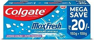 Colgate Max Fresh Blue Gel Toothpaste for super freshness - 300gm, Peppermint Fresh Saver Pack