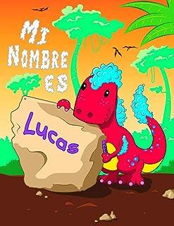 Mi Nombre es Lucas: 2 libros de trabajo en 1! Nombre personalizado y libro de seguimiento de letras diseñado para niños en...
