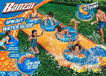 Banzai Spin Out Extra Wide Inflatable Outdoor Water Slide