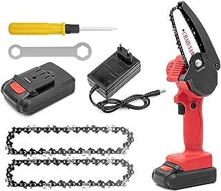 Elektrisk minimotorsåg, elektrisk blingbin handmotorsåg 24 V batteridriven motorsåg, bärbar motorsåg för skärning av trägr...