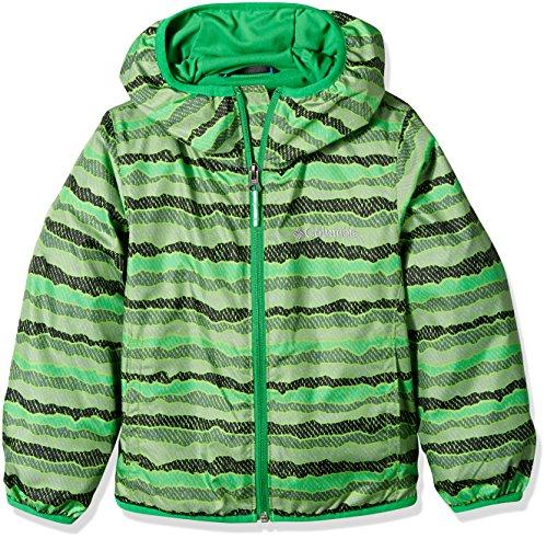 Columbia Kids' Toddler Mini Pixel Grabber Ii Wind Jacket, Cyber Green Stripe, 3T