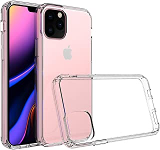 Kit Me Out World Clear Hybrid Series Case Designed for iPhone 11 Pro 5.8 Inch Case, Transparent Hard (PC) Back and Clear T...