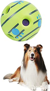 Pet Toy Giggle Ball Upgraded Wobble Giggle Dog Ball with Funny Giggling Sounds Interactive Dog Toys That Make Noise Giggly...
