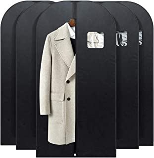 HOUSE DAY Garment Bags for Storage 5 Pack 54 inch Garment Bags for Travel Foldable Storage Bags Suit Covers for Closet,Washable Garment Suit Cover for Dresses,Suits,Coat
