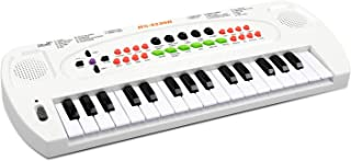 aPerfectLife Kids Piano Keyboard, 32 Keys Multifunction Electronic Kids Keyboard Piano Music Instrument for Toddler with Microphone (White)