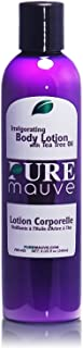 Tea Tree Body Lotion, Pure Mauve Invigorating Moisturizer, Ideal for Itchy, Dry, Oily, Blemish Prone Skin, Contains Natural Shea Butter, Vitamin E