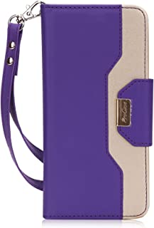 ProCase LG G7 Wallet Flip Case, Folio Folding Case with Credit Card Holders Wristlet Kickstand Phone Cover Case for LG G7 ThinQ 2018 -Purple