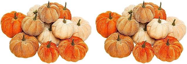 NC 24x Mixed Velvet Pumpkins Halloween Holiday Colheita Banquete de Outono Decoração Da Casa