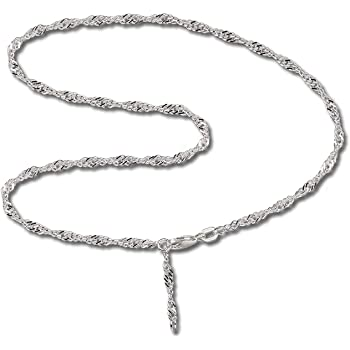 SilberDream anklet Zirkonia 925 Sterling Silver 9.8 inch SDF001