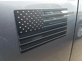 Best EyeCatcher USA Flag Emblem Decal Black - 2 Pack Review