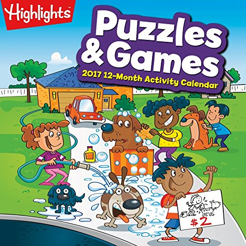 2017 Highlights Puzzles and Games Calendar - 12 x 12 Wall Calendar