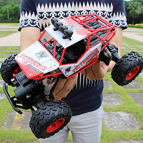 YXWJ 1:12 4WD RC Cars 2.4G Radio Control Giocattoli Buggy Camion ad Alta velocit/à off-Road per Bambini Auto Rock Crawlers 4x4 Guida Doppio Motori Drive Bigfoot Modello a Distanza Giocattolo Veicolo