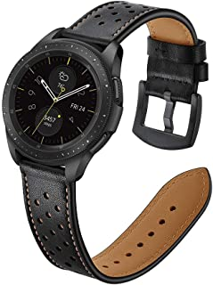 22mm Watch Band, 20mm Watch Band, OXWALLEN Watch Band Leather Quick Release Soft Watch Strap Brown/Black/Grey/Coffee