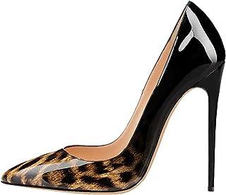 6148bdffdf9154 EDEFS Escarpins Femme - Sexy Talon Aiguille - 120mm High Heel Chaussures -  Grande Taille