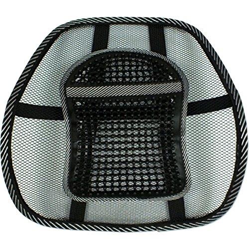 QVS LBP-1B Ergonomic Lumbar Back Support - Elastic Strap, Massage - 18.1 inch x 4 inch x 15.6 inch - Black, Gray