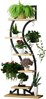 DWW Floor Stand - 6-Storey Pot Rack Modern Indoor Potted Plant Stand Multi-Function Unique Seeder Display Stand