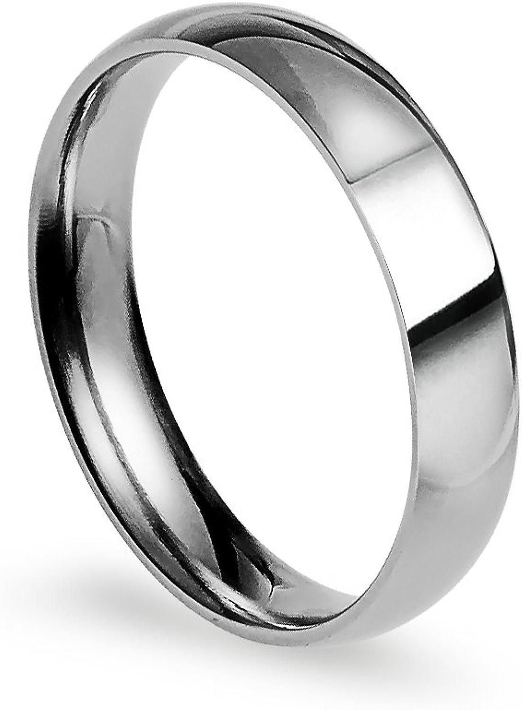 Silverline Jewelry 4mm Stainless Steel Milwaukee Mall Classic Comfort Weddi Fit online shop