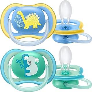 Philips Avent Fopspeen Ultra Air - 18M+ - 2 Stuks - Voor babys met een gevoelige huid - Orthodontisch - Extra stevige spee...