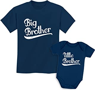 Tstars Sibling Shirts Set for Big Brothers and Little Brothers Boys Gift Set