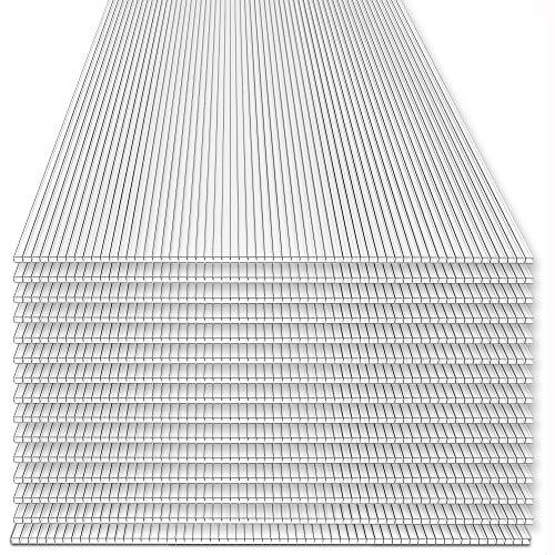Rotfuchs® Hohlkammerplatten 15 Stück Set | 4mm Stegplatten | Polycarbonat (PC) | Ersatzteile für Gewächshaus | Doppelseitig UV-Beschichtet | 700g/m² |...