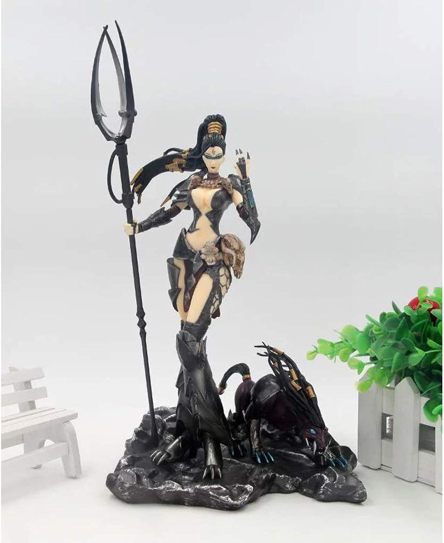 QYSZYG Jouets Statue League of Legends Jouets Jeux de Modèles Personnages Souvenirs Bricolages LOL Chasseresse Sauvage Nedley 27CM