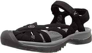 KEEN Women's Rose Sandal, Black/Neutral Gray, 9.5 B - Medium