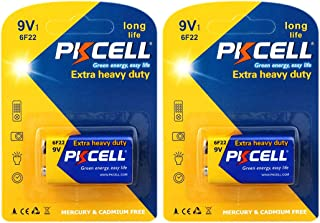 2 Pack 9V Carbon Zinc Batteries for Smoke detectors