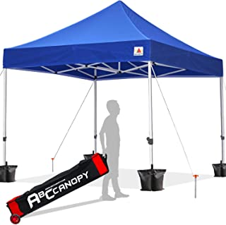 ABCCANOPY 10x10 Canopy Tent Pop up Canopy Outdoor Canopy Commercial Instant Shelter with Wheeled Carry Bag, Bonus 4 Canopy Sand Bags