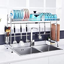 Kitchen Storage Rack Sink Dish | Stainless Steel Length Can Be Stretched 60~90cm for Kitchen, Storage