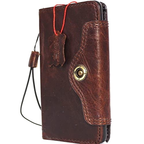 64852983e154 Genuine Real Leather Case for Samsung Galaxy Note 5 Book Wallet Hand Made  Cover Retro Luxury