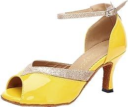 Salabobo AQQ-6183 Womens Latin Tango Ballroom Professional 3 inch Heel PU Dance Shoes