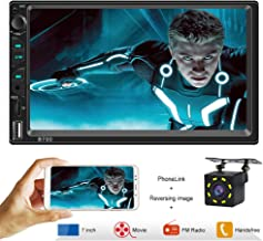 Car Stereo with Bluetooth Double din Car Radio 7 Inch High Definition Capacitive Touch Screen Car stereo with backup camera Car stereo wtih mirror link support USB SD AUX IN Wireless Remote Control