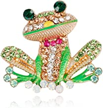 SSLXCZA Fashion Cartoon Frog Brooch Europe And America Wild Spot Brooches For Women Brooch Pins Jewelry Accessories