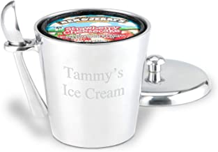 GiftTree Engraved Ice Cream Bucket with Scoop   Personalized Metal Pint Sized Ice Cream Container and Scoop   Perfect For Ice Cream Lovers, Mother's Day or a Birthday Gift