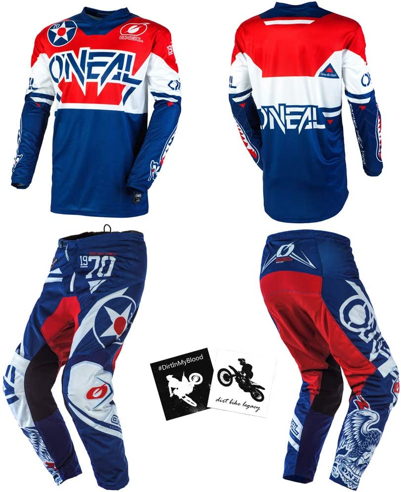 O'Neal Warhawk Blue Red Men X-Large W34 Elegant Sale special price Powersports Protective