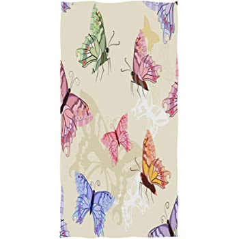 susiyo Abstract Vintage Colorful Dandelion Hand Towels Luxury Print Bathroom Towel Highly Absorbent Extra Soft Fingertip Towels Multipurpose Towels for Yoga Gym Spa Hotel Bathroom 30 x 15 inch
