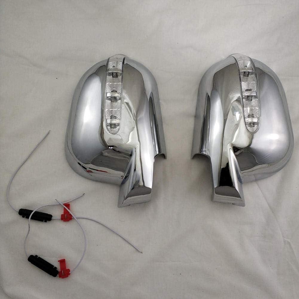 ZIMAwd Accessoires de r/étroviseur de Voiture pour Mercedes-Benz Classe M W163 ML 1997-2005 couvercles de r/étroviseur de Porte avec Accessoires de Voiture /à LED ABS
