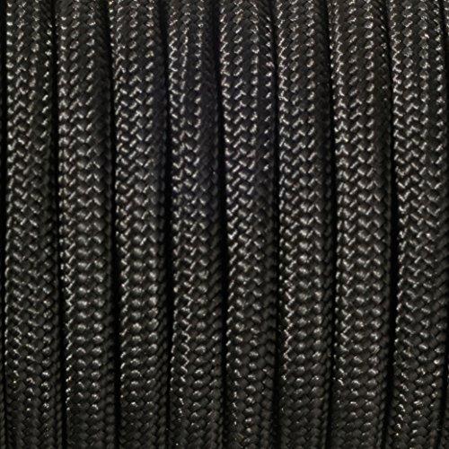 efco Paracord Seil, Polyester Blend, schwarz, 2mm x 4m