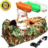Chillax Inflatable Lounger - Best Air Lounger for Travelling, Camping, Hiking - Ideal Inflatable Couch for Pool and Beach Parties - Perfect Air Chair for Picnics or Festivals (Camouflage)
