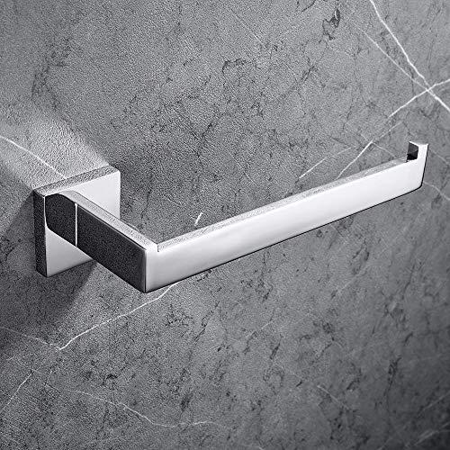 Melairy Wandhalterung Handtuchring Handtuchhalter aus 304 Edelstahl, 27cm Handtuchring Schwarz Poliert Finish Badezimmerzubehör für Badezimmer (Chrom)
