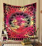 THE ART BOX - Tapiz psicodélico para Colgar en la Pared, diseño de Luna, Mandala, Hippie, Hippie, Celestial, Estilo hindú, Bohemio, para decoración de habitación