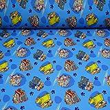 Softshell Paw Patrol Fahrzeuge, blau (25cm x 145cm)