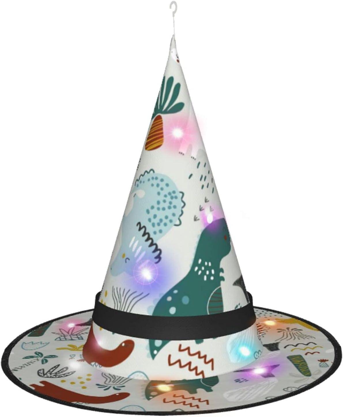 AJUNJUNPAI Seattle Mall Childish gift Cute Dinosaur Glowing Colourfu Hat Halloween