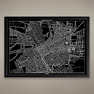 Nashville Map Print, Home or office Decor