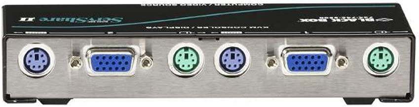 Black Box Reverse KVM Switch 2-Port Native VGA PS/2
