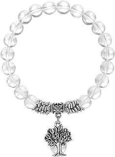 TUMBEELLUWA Beaded Bracelets Semi Precious Stone Yoga Beads Healing Crystals Tree of Life Charm Chakra Bracelet Handmade J...
