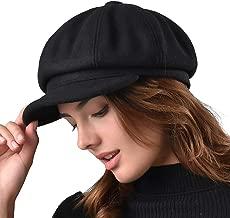 FURTALK Women's Newsboy Cap Paperboy Hat Winter Wool Beret Hat Cabbie Fiddler Hat