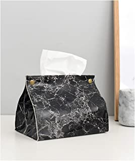 Dachengzi Leather Tissue Box Nordic Marble Pattern Home Living Room Bedroom Dining Table Bathroom Desktop,