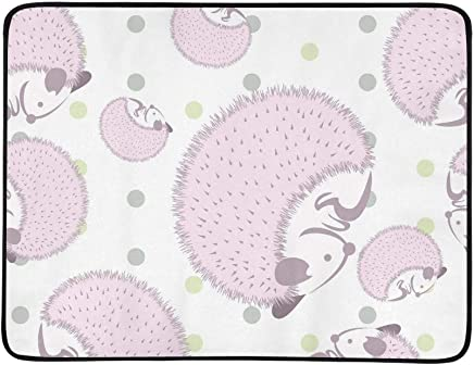 EIJODNL Hedgehog Hedgehog Hedgehog Use Wallpaper Portable and Foldable Blanket Mat 60x78 Inch Handy Mat for Camping Picnic Beach Indoor Outdoor Travel B07MYRPRG4 | Neueste Technologie