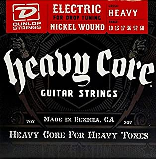 Dunlop Heavy Core Strings - Heavy 10-60 6 Pack Box of 6 Sets DHCN1060-6